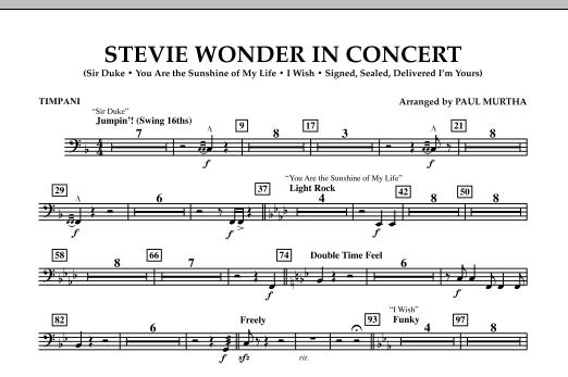 Stevie Wonder In Concert - Timpani (Concert Band)