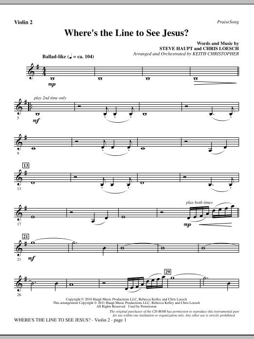 Where's The Line To See Jesus? - Violin 2 (Choir Instrumental Pak)