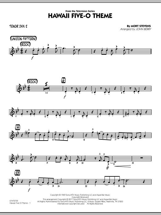 Hawaii Five-O Theme - Tenor Sax 2 (Jazz Ensemble)