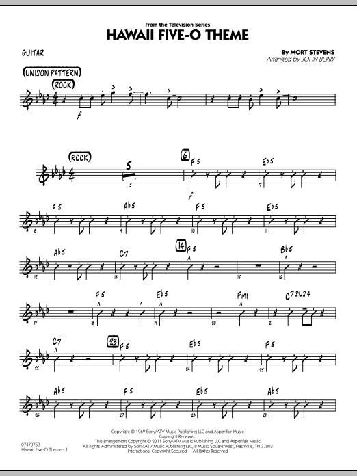 Hawaii Five-O Theme - Guitar (Jazz Ensemble)