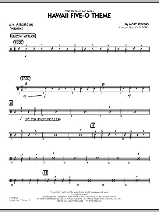 Hawaii Five-O Theme - Aux Percussion (Jazz Ensemble)