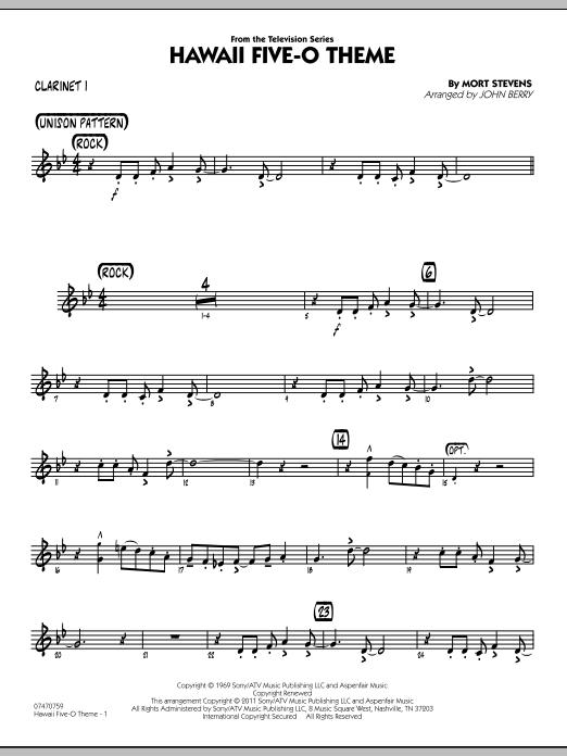 Hawaii Five-O Theme - Bb Clarinet 1 (Jazz Ensemble)