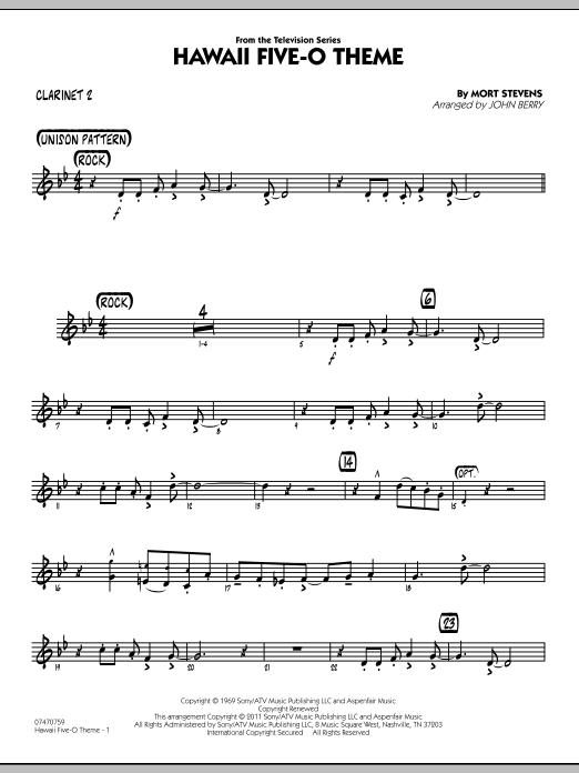 Hawaii Five-O Theme - Bb Clarinet 2 (Jazz Ensemble)