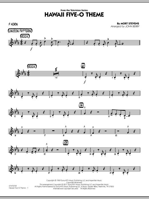 Hawaii Five-O Theme - F Horn (Jazz Ensemble)