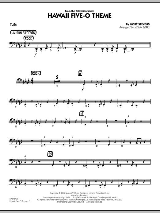 Hawaii Five-O Theme - Tuba (Jazz Ensemble)