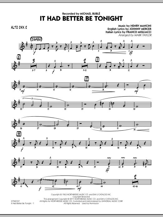 It Had Better Be Tonight - Alto Sax 2 (Jazz Ensemble)
