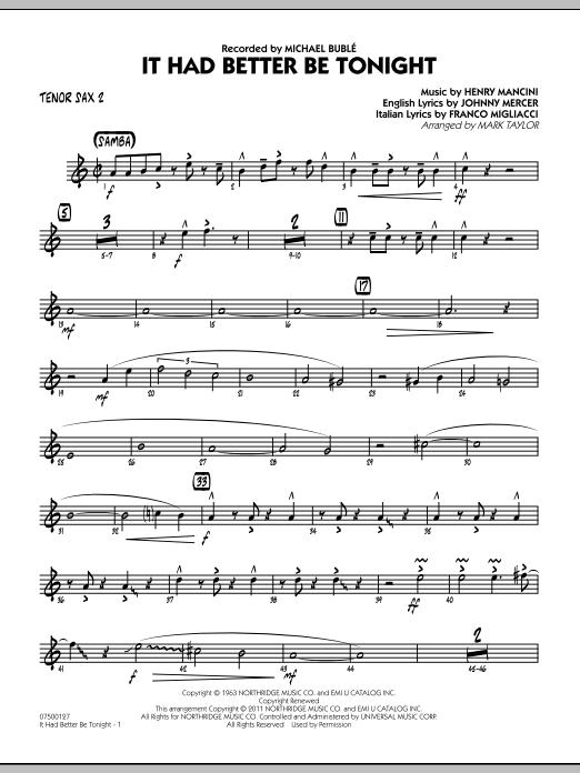 It Had Better Be Tonight - Tenor Sax 2 (Jazz Ensemble)
