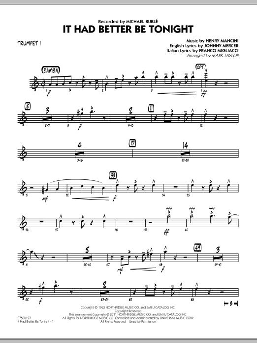 It Had Better Be Tonight - Trumpet 1 (Jazz Ensemble)
