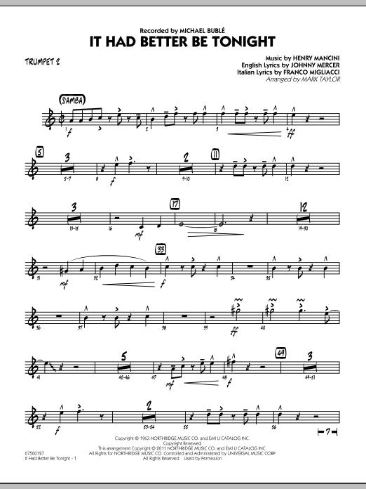 It Had Better Be Tonight - Trumpet 2 (Jazz Ensemble)