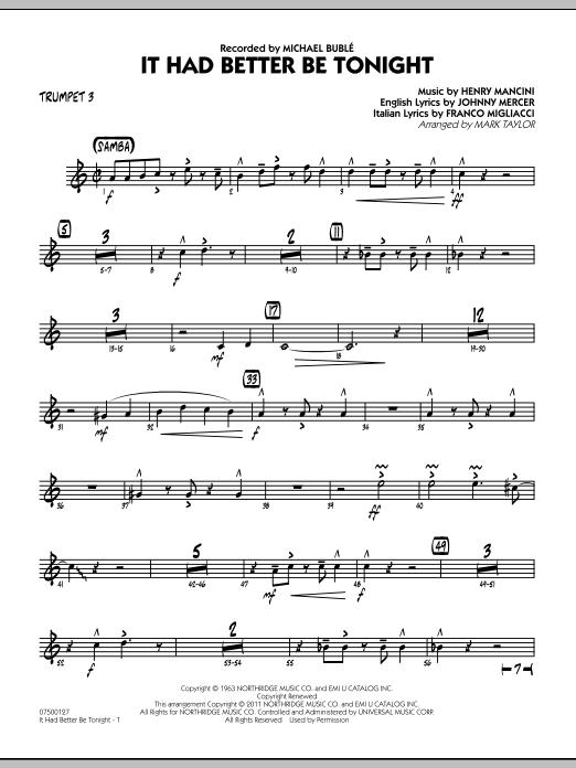 It Had Better Be Tonight - Trumpet 3 (Jazz Ensemble)