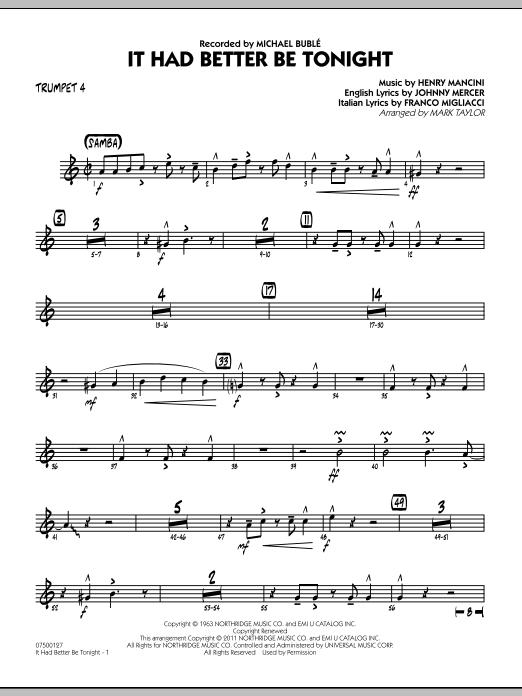 It Had Better Be Tonight - Trumpet 4 (Jazz Ensemble)