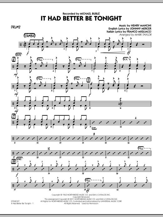It Had Better Be Tonight - Drums (Jazz Ensemble)