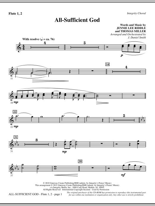 All-Sufficient God - Flute 1 & 2 (Choir Instrumental Pak)