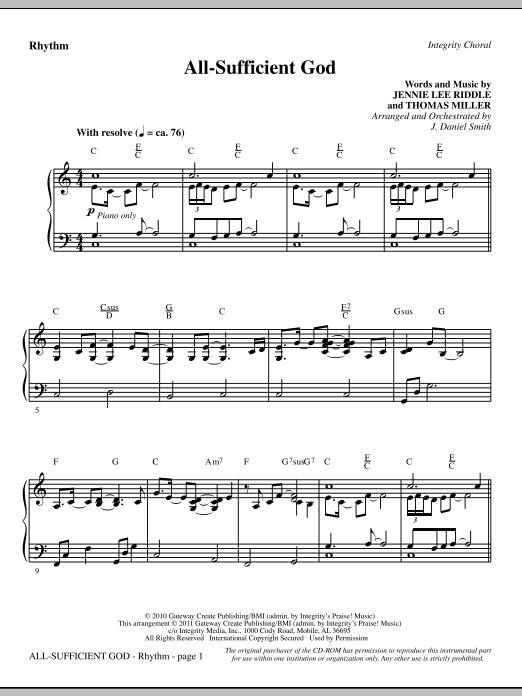 All-Sufficient God - Rhythm (Choir Instrumental Pak)