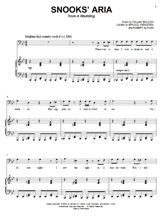 Snooks' Aria Sheet Music
