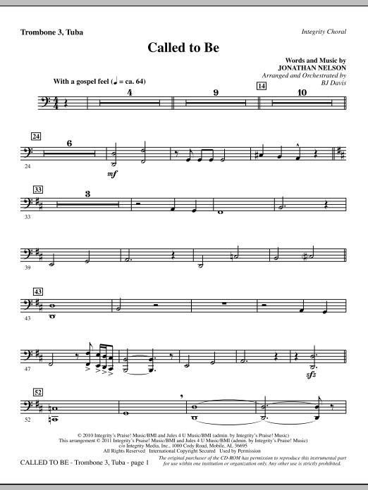 Called To Be - Trombone 3/Tuba (Choir Instrumental Pak)
