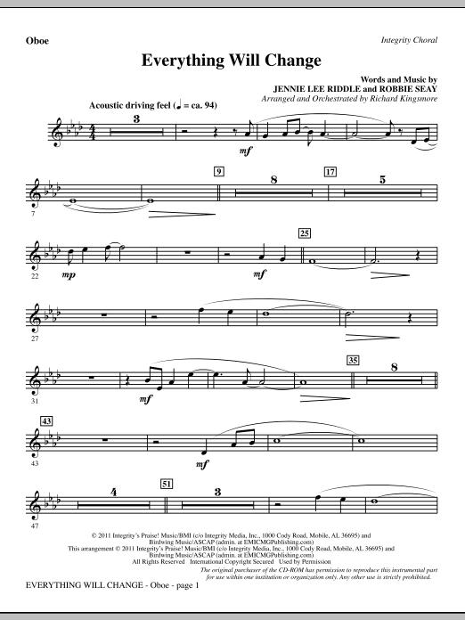 Everything Will Change - Oboe (Choir Instrumental Pak)