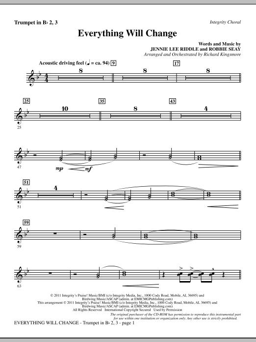 Everything Will Change - Trumpet 2 & 3 (Choir Instrumental Pak)