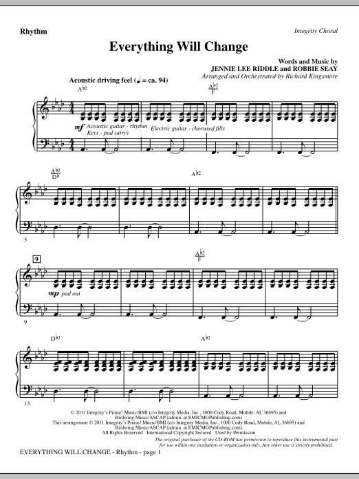 Everything Will Change - Rhythm (Choir Instrumental Pak)