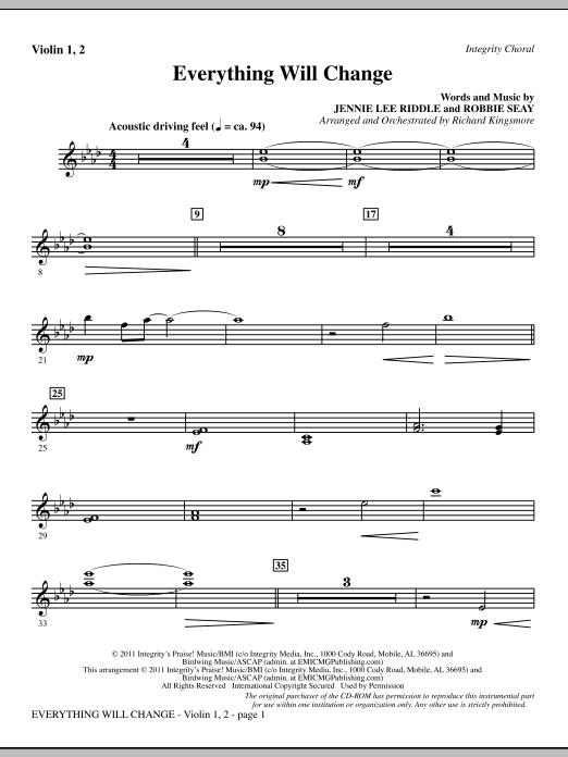 Everything Will Change - Violin 1, 2 (Choir Instrumental Pak)