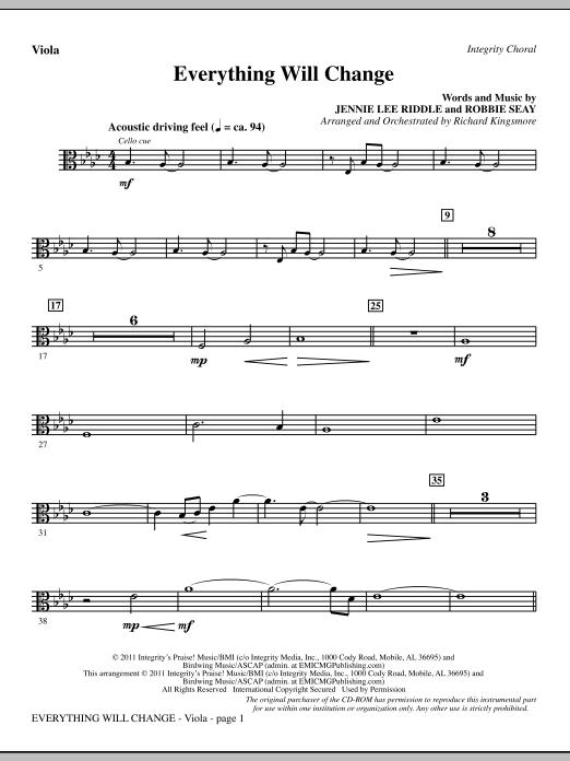 Everything Will Change - Viola Sheet Music