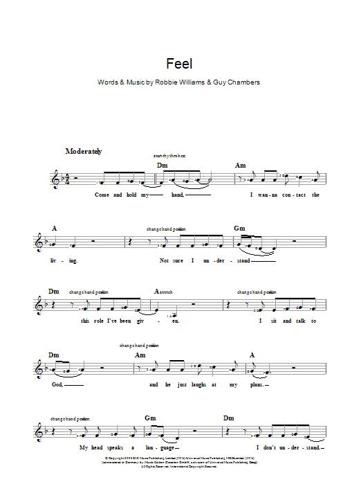 Feel (Piano Chords/Lyrics)