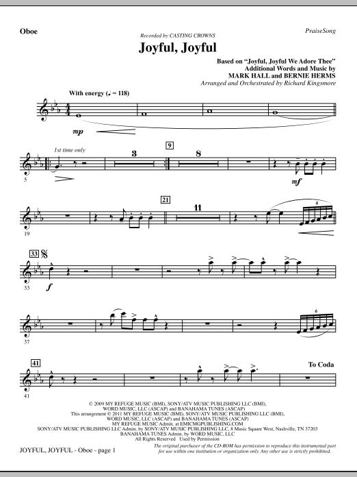 Joyful, Joyful - Oboe (Choir Instrumental Pak)