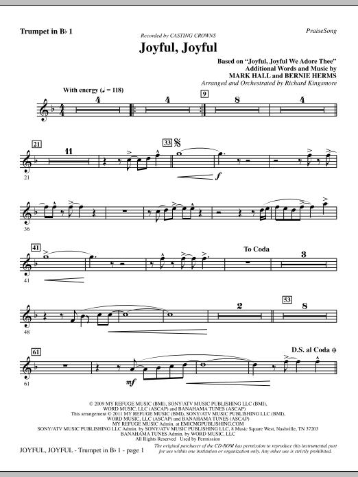 Joyful, Joyful - Trumpet 1 (Choir Instrumental Pak)