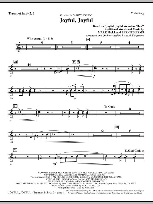 Joyful, Joyful - Trumpet 2 & 3 (Choir Instrumental Pak)
