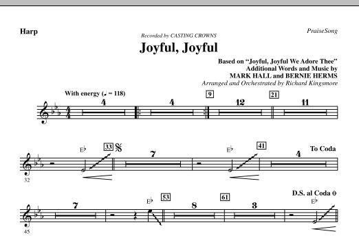 Joyful, Joyful - Harp (Choir Instrumental Pak)