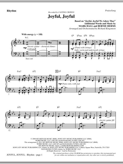 Joyful, Joyful - Rhythm (Choir Instrumental Pak)