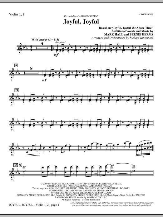 Joyful, Joyful - Violin 1, 2 (Choir Instrumental Pak)