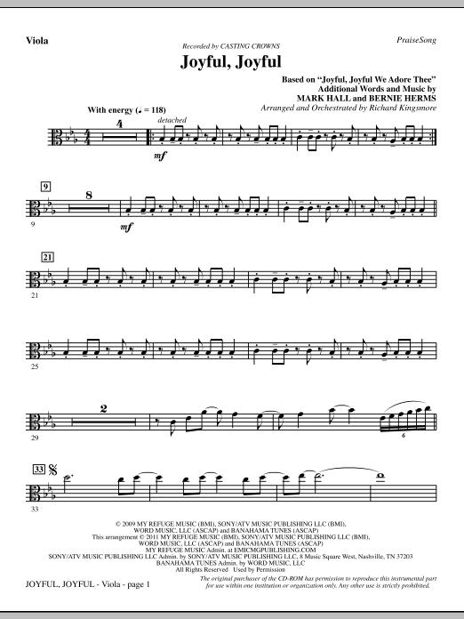 Joyful, Joyful - Viola (Choir Instrumental Pak)