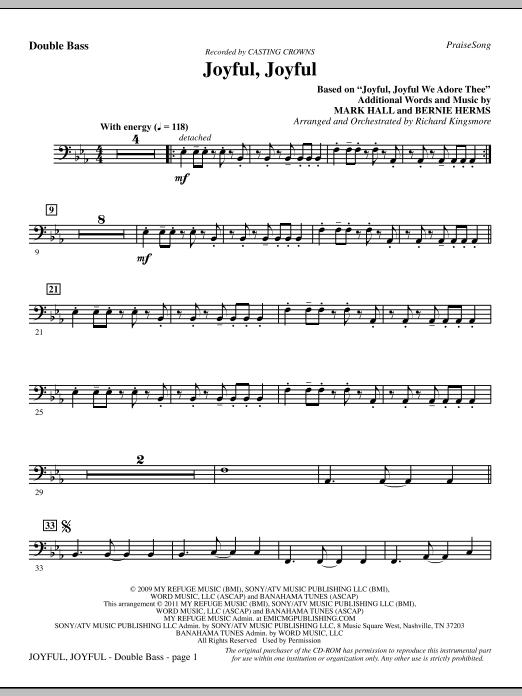 Joyful, Joyful - Double Bass (Choir Instrumental Pak)