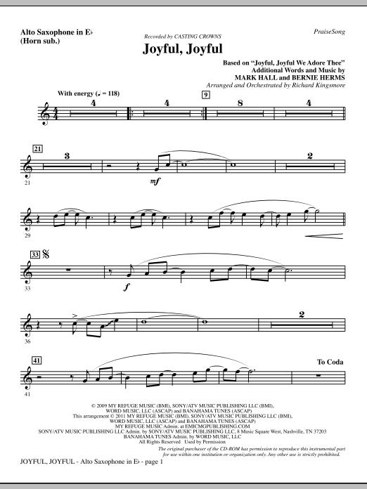 Joyful, Joyful - Alto Sax (sub. Horn) (Choir Instrumental Pak)