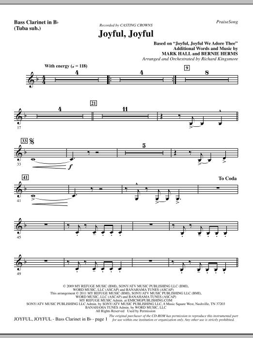 Joyful, Joyful - Bass Clarinet (sub. Tuba) (Choir Instrumental Pak)