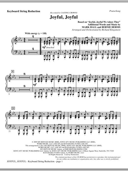 Joyful, Joyful - Keyboard String Reduction (Choir Instrumental Pak)