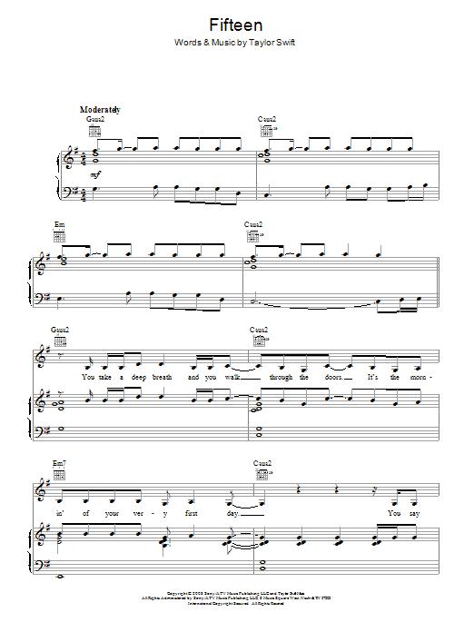 Fifteen Sheet Music