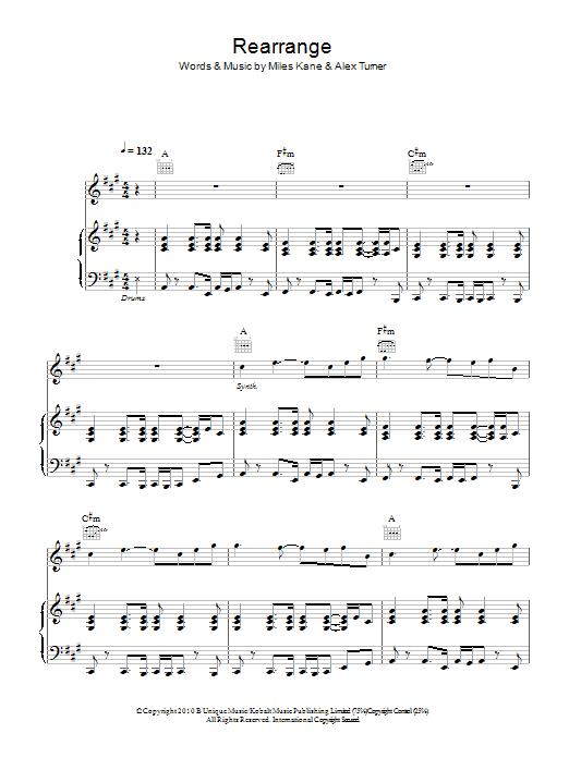 Rearrange Sheet Music