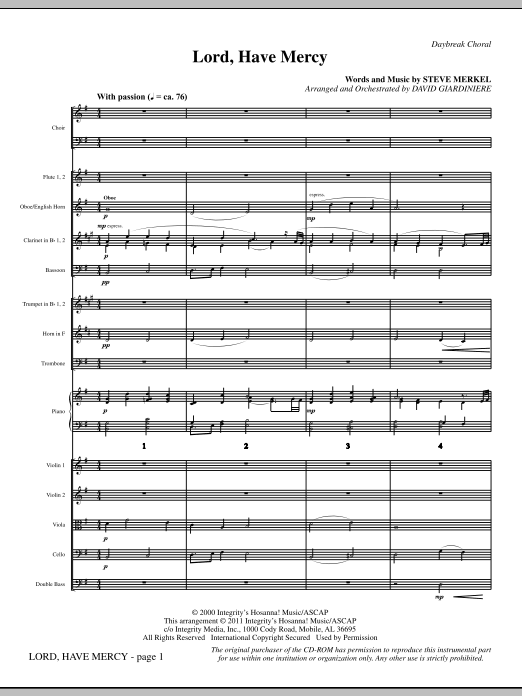 Lord Have Mercy - Full Score Sheet Music