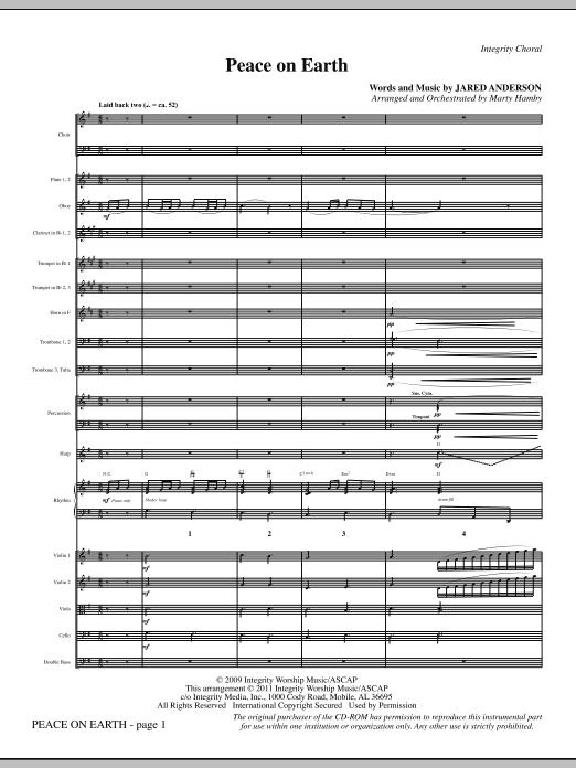 Peace On Earth - Full Score (Choir Instrumental Pak)
