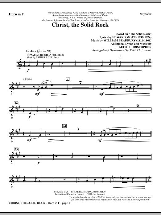 Christ, The Solid Rock - F Horn (Choir Instrumental Pak)