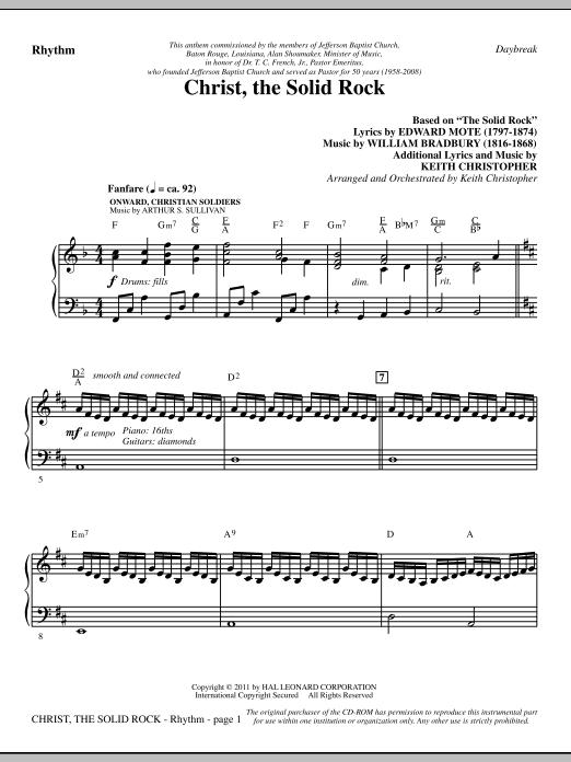 Christ, The Solid Rock - Rhythm (Choir Instrumental Pak)