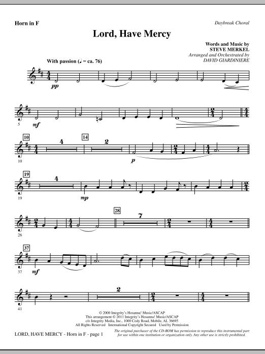Lord Have Mercy - F Horn (Choir Instrumental Pak)