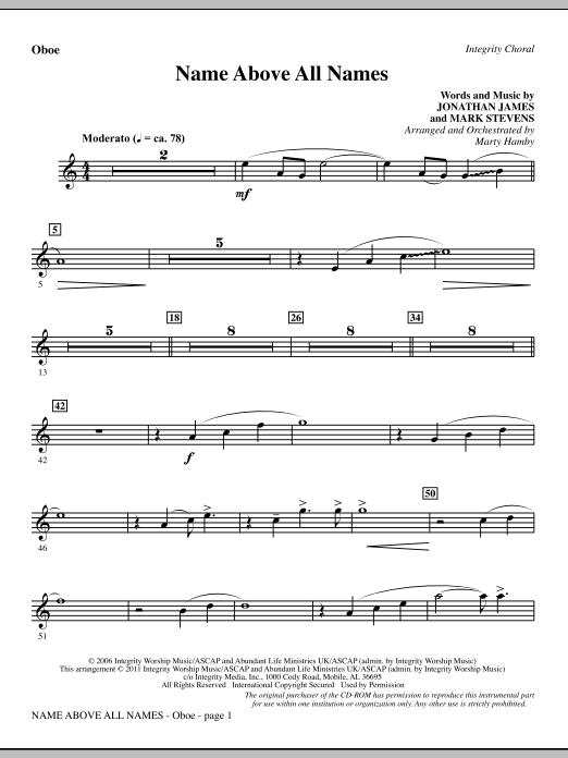 Name Above All Names - Oboe (Choir Instrumental Pak)