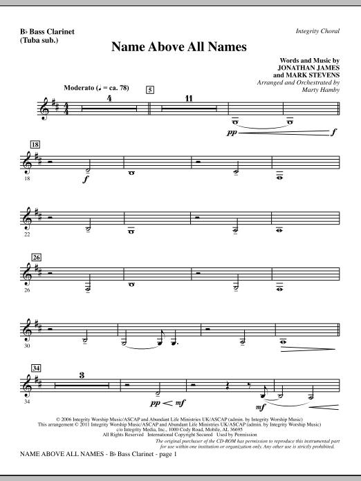 Name Above All Names - Bass Clarinet (sub. Tuba) Sheet Music
