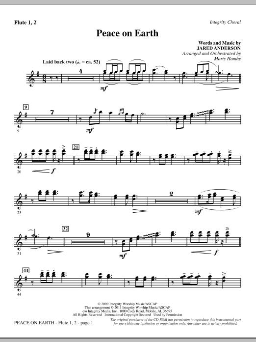 Peace On Earth - Flute 1 & 2 (Choir Instrumental Pak)