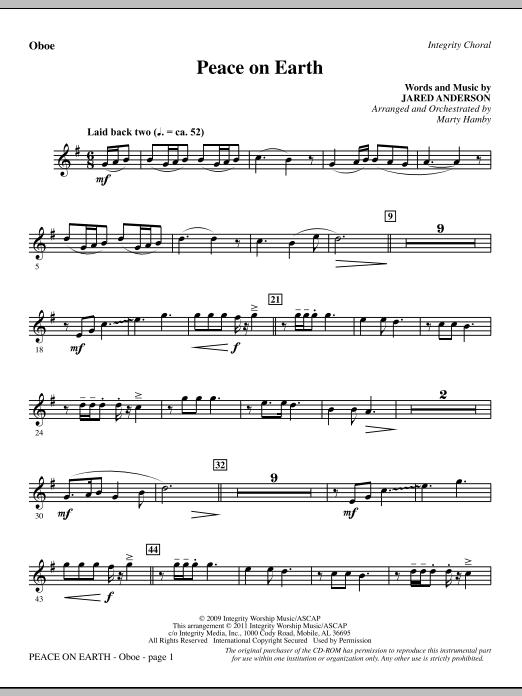 Peace On Earth - Oboe (Choir Instrumental Pak)