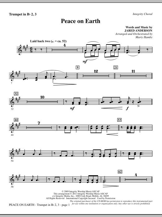 Peace On Earth - Bb Trumpet 2,3 (Choir Instrumental Pak)