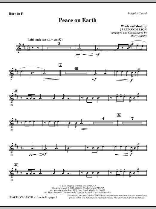 Peace On Earth - F Horn (Choir Instrumental Pak)